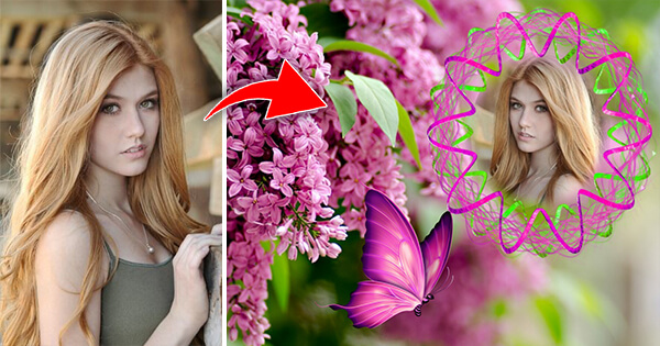 Make Your Cute Photo With Lovely Flowers