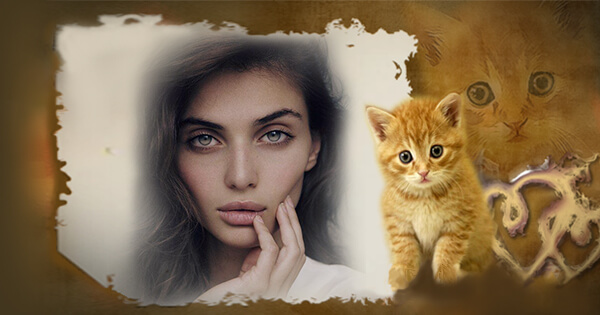 Create Your Beautiful Photo With Cat Frame Online